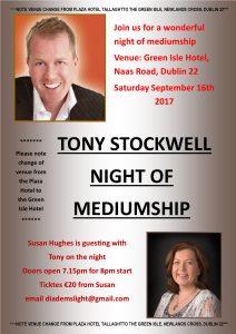 Tony Stockwell Night of Mediumship @ The Green Isle Hotel | Dublin | County Dublin | Ireland