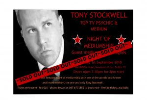 Tony Stockwell Night of Mediumship Dublin @ James Joyce room, Maldron Hotel | Dublin | County Dublin | Ireland